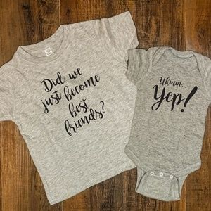 Other - Super Cute Friends Matching Sibling Tees
